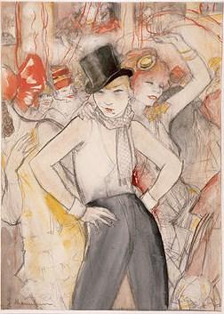 Ida Gerhardi, Pariser Tanzlokal 'Bal Bullier', ca 1900.