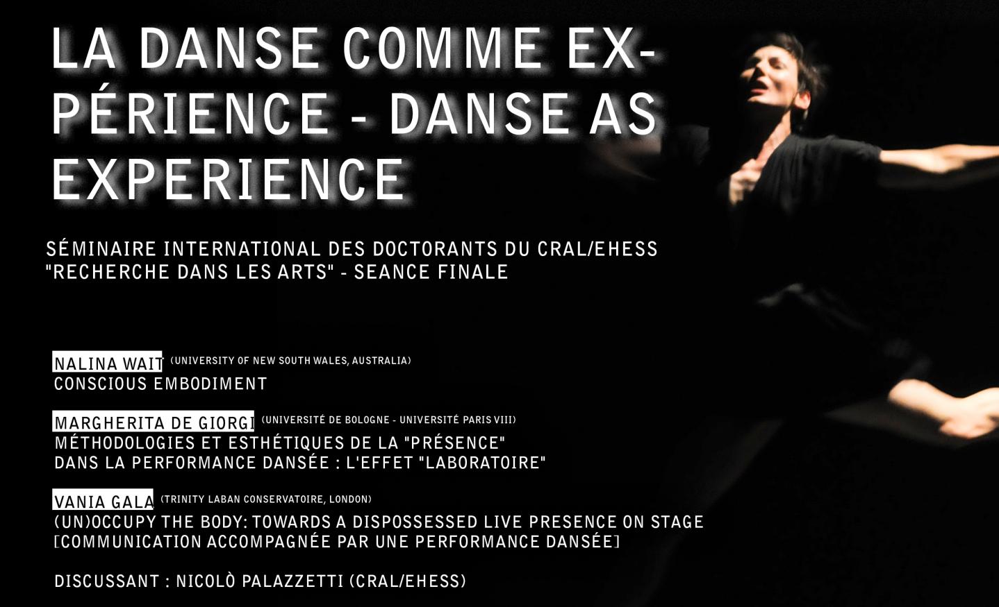 Danse comme expérience